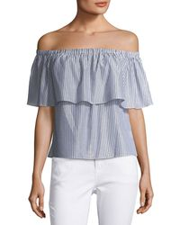 Waverly Grey - Courtney Striped Off-the-shoulder Top - Lyst