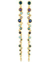 Gurhan - 22k Pointelle Multi-stone Linear Earring - Lyst