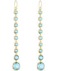 Ippolita - 18k Lollipop 10-stone Drop Earrings In Swiss Blue Topaz - Lyst