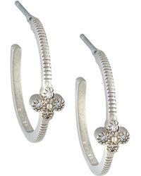 Freida Rothman - Clover Huggie Hoop Earrings - Lyst