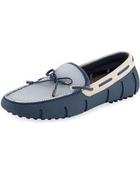 Swims - Mesh & Rubber Braided-lace Boat Shoes - Lyst