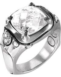 John Hardy - Batu Silver Cushion Ring W/ White Topaz Size 7 - Lyst