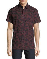 Sovereign Code - Men's Stromburg Camo Short Sleeve Sport Shirt - Lyst