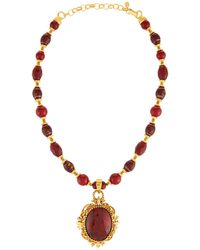 Jose & Maria Barrera - Red Glass Beaded Pendant Necklace - Lyst