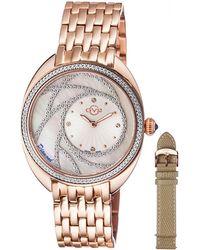 Gv2 - 39.6mm Ancona Bracelet Watch W/ Diamonds & Interchangeable Strap Rose Golden - Lyst