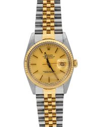Rolex - Pre-owned 36mm Men's Oyster Perpetual Datejust Two-tone Watch - Lyst