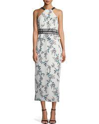 StyleStalker - Kaylene Halter Floral Maxi Dress - Lyst