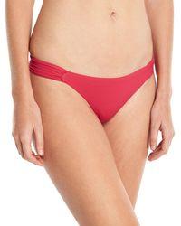 Saha - Ruched-sides Classic Swim Bikini Bottom - Lyst