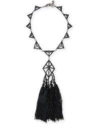 Lulu Frost - Helena Crystal Tassel Necklace - Lyst