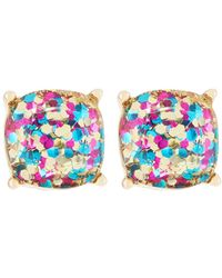 Lydell NYC - Rainbow Glitter Stud Earrings - Lyst