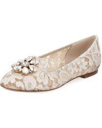 Dolce & Gabbana - Vally Jewel-embellished Lace Loafers - Lyst
