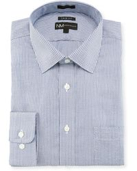 Neiman Marcus | Trim Fit Striped Dobby Dress Shirt | Lyst