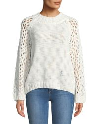 Knot Sisters - Carlson Openwork-sleeve Sweater - Lyst