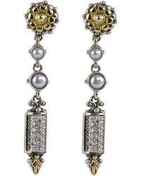 Konstantino - Asteri Etched Freshwater Pearl & Diamond Dangle Earrings - Lyst