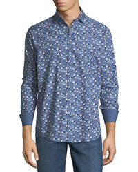 Bugatchi - Shaped-fit Floral Sport Shirt - Lyst