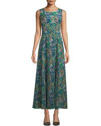 Lafayette 148 New York - Estrella Palm-leaf Maxi Dress - Lyst