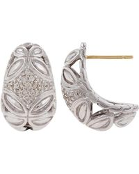 John Hardy - Kawung Diamond Buddha Belly Earrings - Lyst