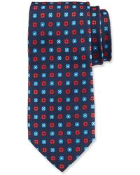 Duchamp - Small Square Pattern Silk Tie - Lyst