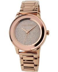 20fa3e5b2445 MICHAEL Michael Kors - 41.5mm Kinley Crystal Pave Bracelet Watch Rose Golden  - Lyst