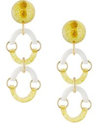 Lele Sadoughi - Arched Crystal Clip-on Drop Earrings - Lyst