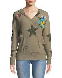 Chaser - Star Patch Hoodie Sweatshirt - Lyst