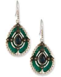 Armenta | New World Teal Mosaic Earrings With Champagne Diamonds | Lyst