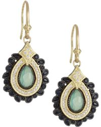 Armenta | Old World Pear Cluster Earrings W/ Mixed Stones & Diamonds | Lyst