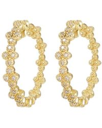Jude Frances - 18k Provence Diamond Quad Hoop Earrings - Lyst
