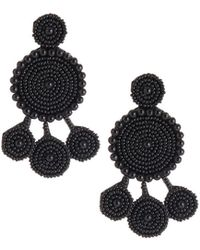 Nakamol - Seed Bead Circular Dangle Earrings - Lyst