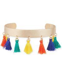 Panacea - Multi-tassel Cuff Bracelet - Lyst