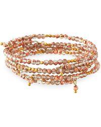 Panacea - Copper Crystal Bracelets Set Of 4 - Lyst