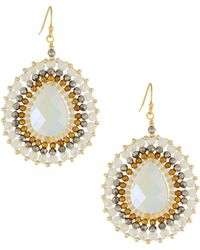 Nakamol | Crystal Beaded Circular Drop Earrings | Lyst