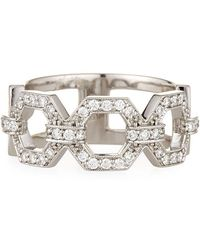 Penny Preville - 18k Square Diamond Link Ring - Lyst