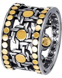 John Hardy - Dot Two-tone Band Ring Size 7 - Lyst
