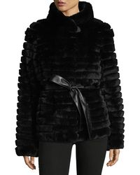 Gorski - Reversible Down & Fur Belted Puffer Coat - Lyst