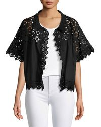 Johnny Was - Eyelet Georgette Jacket - Lyst