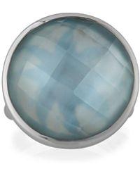 Elizabeth Showers - Icon Doublet Ring In Blue - Lyst