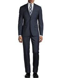 DKNY - Solid Twill Two-piece Wool Suit - Lyst