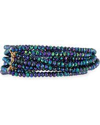 Panacea - Disco Crystal Stretch Bracelet Set - Lyst