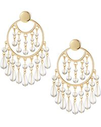 Lydell NYC - Lucite® Chandelier Earrings - Lyst