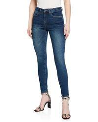 Karen Millen - Skinny Dark Wash Jeans - Lyst