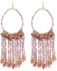 Lydell NYC - Seed Bead Tassel Drop Earrings - Lyst