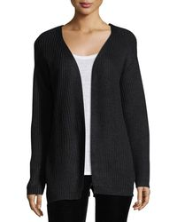Dex - Melange-knit Cardigan W/lace-up-back - Lyst