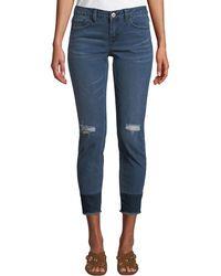 Dex - Mid-rise Contrast-hem Crop Jeans - Lyst