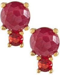 Ippolita - 18k Lollipop 2-stone Post Earrings - Lyst
