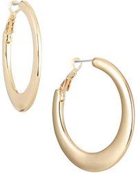 Lydell NYC - Tapered Hoop Earrings - Lyst