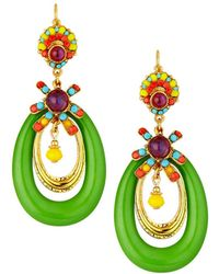 Jose & Maria Barrera - Lucite® Hoop Drop Earrings - Lyst