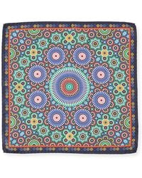 Bugatchi - Electric Circle Silk Pocket Square - Lyst