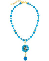Jose & Maria Barrera - Carved Agate Flower Pendant Necklace - Lyst