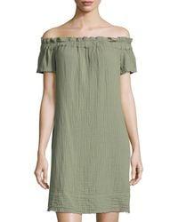 Amadi - Nola Off-the-shoulder Dress - Lyst